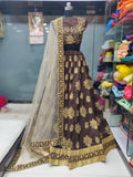 Brown and Gold Lehenga