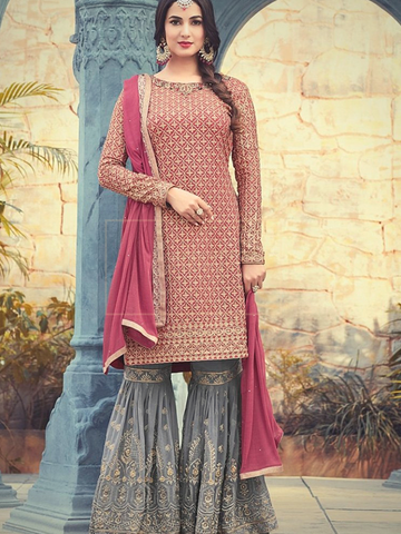Pink and Grey Sharara