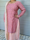 Peach Lehenga with Pink Top