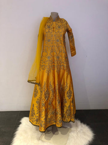 Mustard Yellow Gown