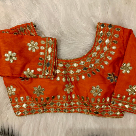 Orange 3/4 Blouse