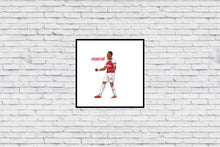 Aubameyang ROARR Celebration in Wall Print