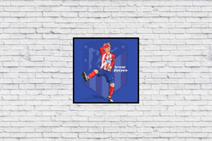 Atletico Madrid Griezmann in Wall Print