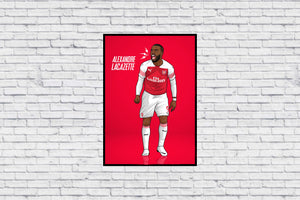 Lacazette shouting in Wall Print