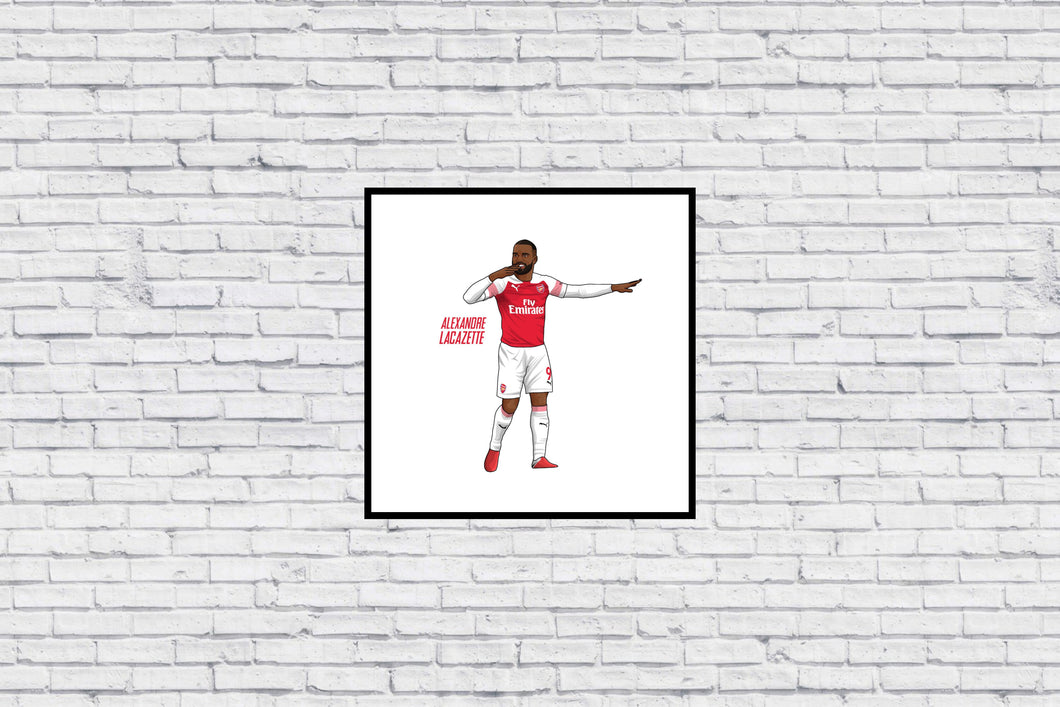 Lacazette Celebration in Wall Print