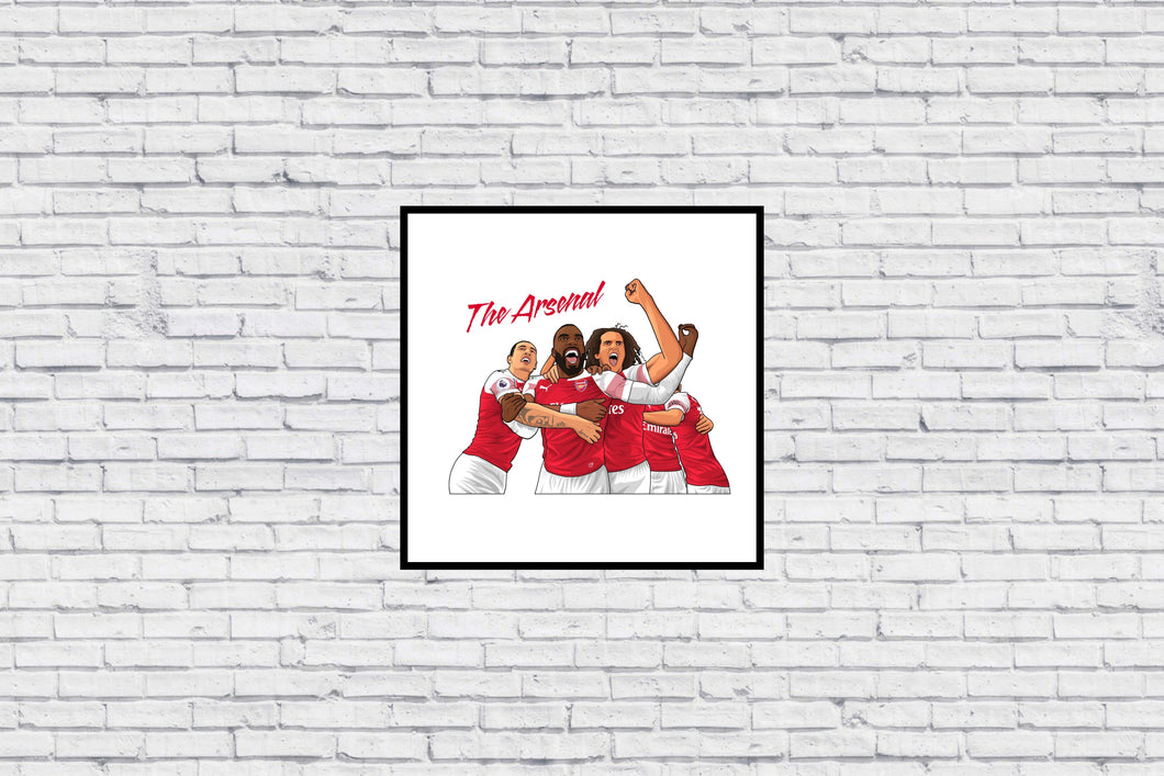 The Arsenal Group Celebration in Wall Print