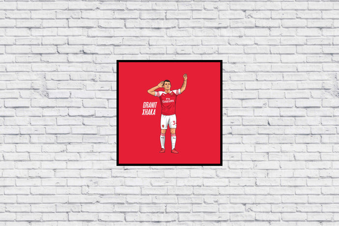 Haters will Hate - Xhaka in Wall Print