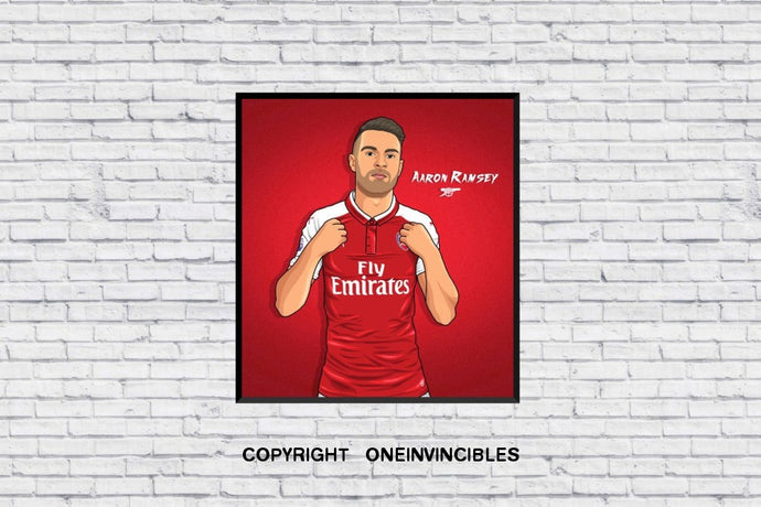 Aaron Ramsey 2018/19 Kit In Wall Print