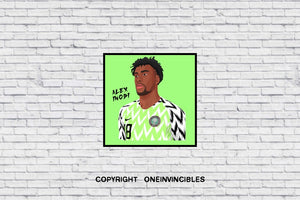 Alex Iwobi Nigeria Kit In Wall Print