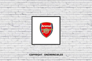 Arsenal Badge In Wall Print 20 X