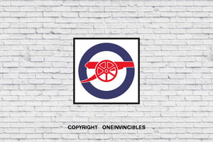 Arsenal Iconic Cannon In Wall Print 20 X