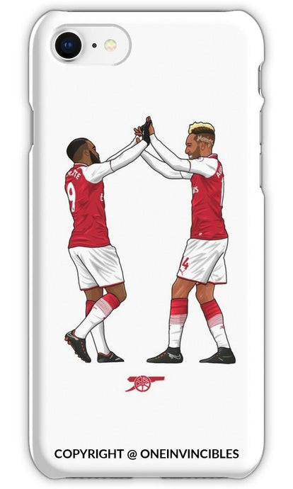Arsenal Lacazette & Aubameyang Celebration! Iphone 6S / Tough White Phone Cases
