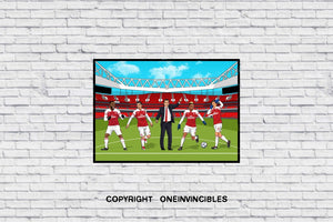 Arsenal Players In Wall Print
