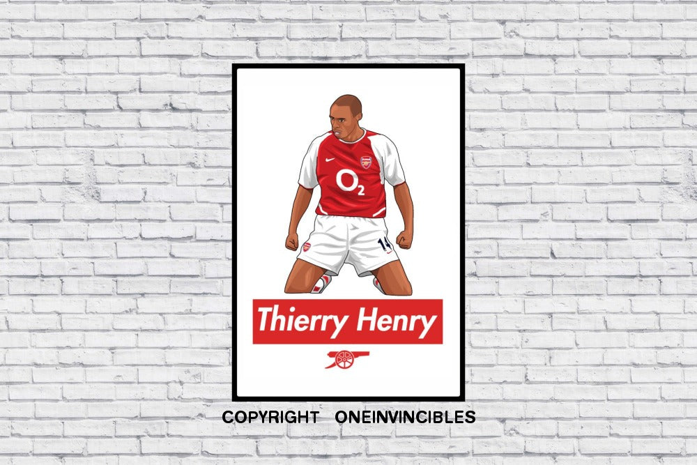 Arsenal Thierry Henry Celebration In Wall Print