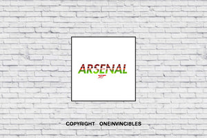 Arsenal With Stadium Background Wall Print 20 X