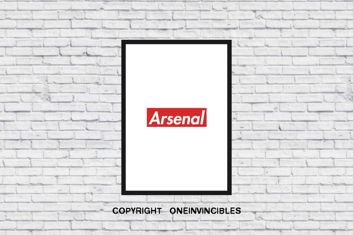 Arsenal X Supreme In Wall Print A4