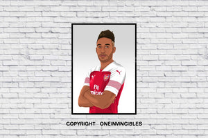 Aubameyang 18/19 Kit In Wall Print