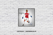 Aubameyang 2018/19 Kit In Wall Print 20 X / White