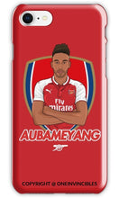 Aubameyang In Arsenal Crest Phone Cases