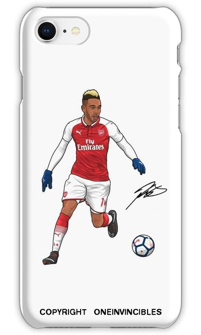 Aubameyang With Signature Phone Cases