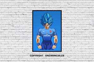 Goku Blue In Wall Print