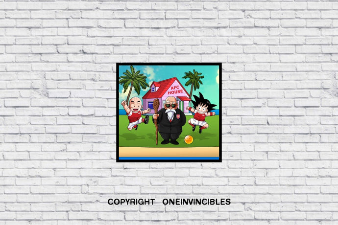Kid Goku In Afc House Wall Print