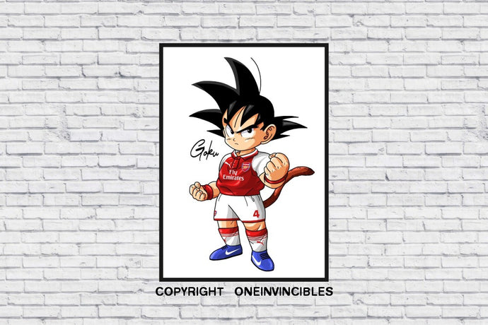 Kid Goku In Wall Print A4