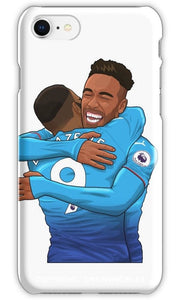 Lacazette X Aubameyang Hugs Iphone 6S / Tough Blue Phone Cases