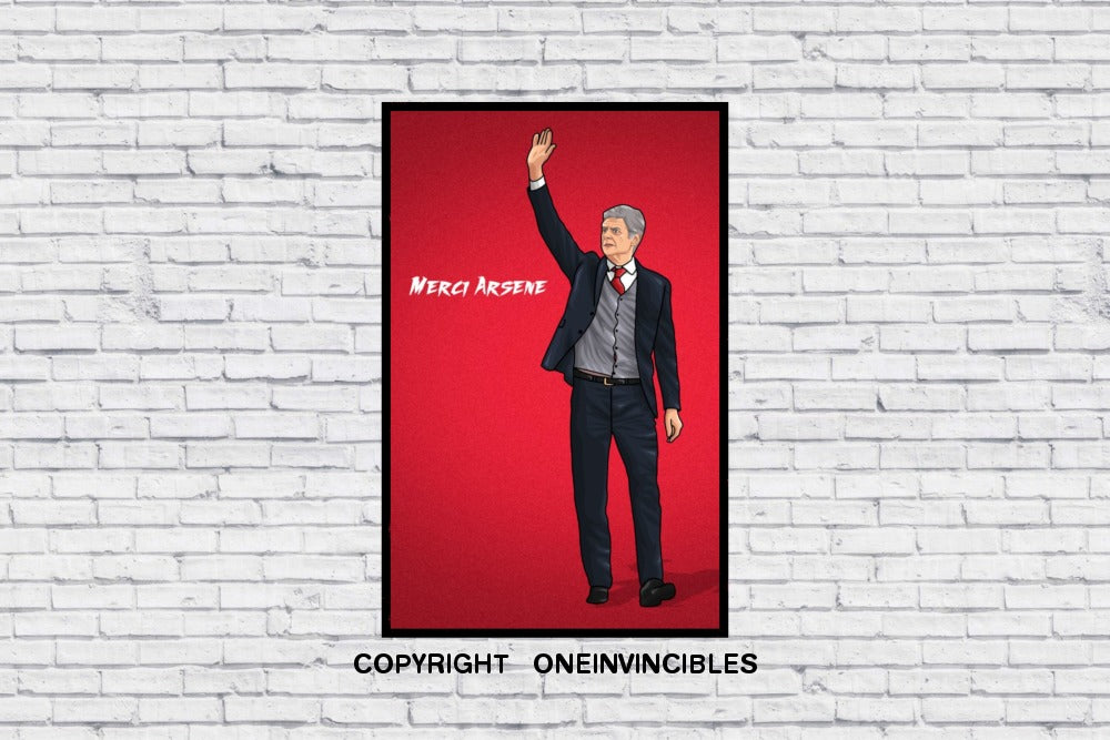Merci Arsene In Wall Print A3
