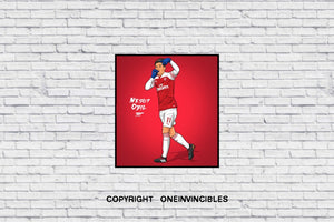 Mesut Ozil 2018/19 Kit In Wall Print 20 X / White
