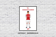 Mesut Ozil 2018/19 Kit In Wall Print A4 / Red