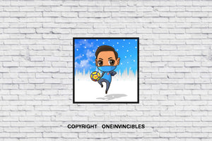 Mesut Ozil Chibi Snow In Wall Print 20 X
