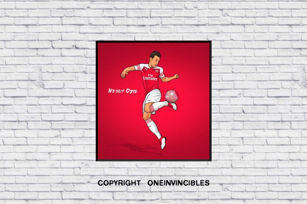 Mesut Ozil Scissors Kick In Wall Print