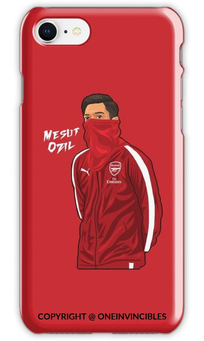 Mesut Ozil Snood Iphone 8 / Tough Red Phone Cases
