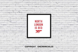 North London Is Red In Wall Print 20 X