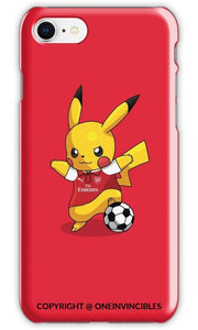 Pikachu In Arsenal Kits Iphone 6S / Tough Red Phone Cases
