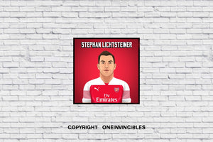 Stephen Lichtsteiner 2018/19 Kit In Wall Print