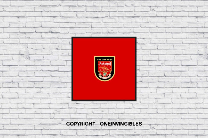 The Gunners Badge In Wall Print 20 X