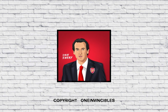 Unai Emery In Wall Print 20 X