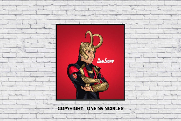 Unai Emery Loki In Wall Print