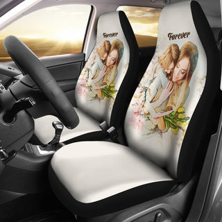 Custom Mother And Daugther Forever Car Seat Cover