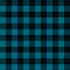 Plaid - teal blue