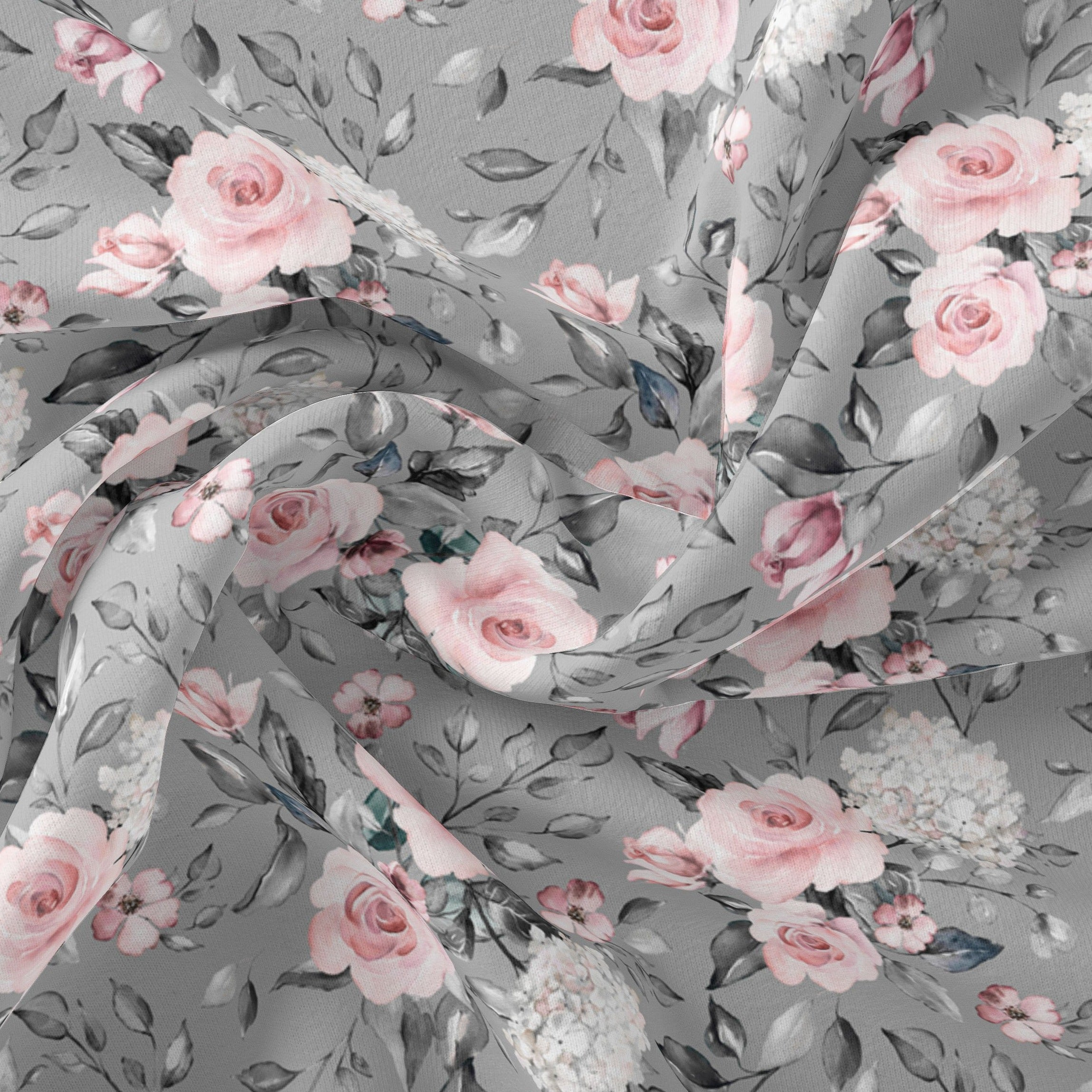 Flowers on Gray (Large Scale) - (On Demand)