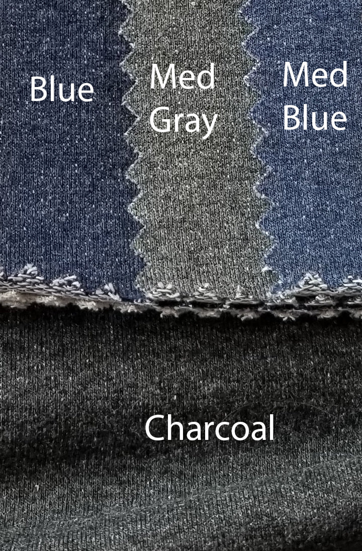 Charcoal - Heather French Terry