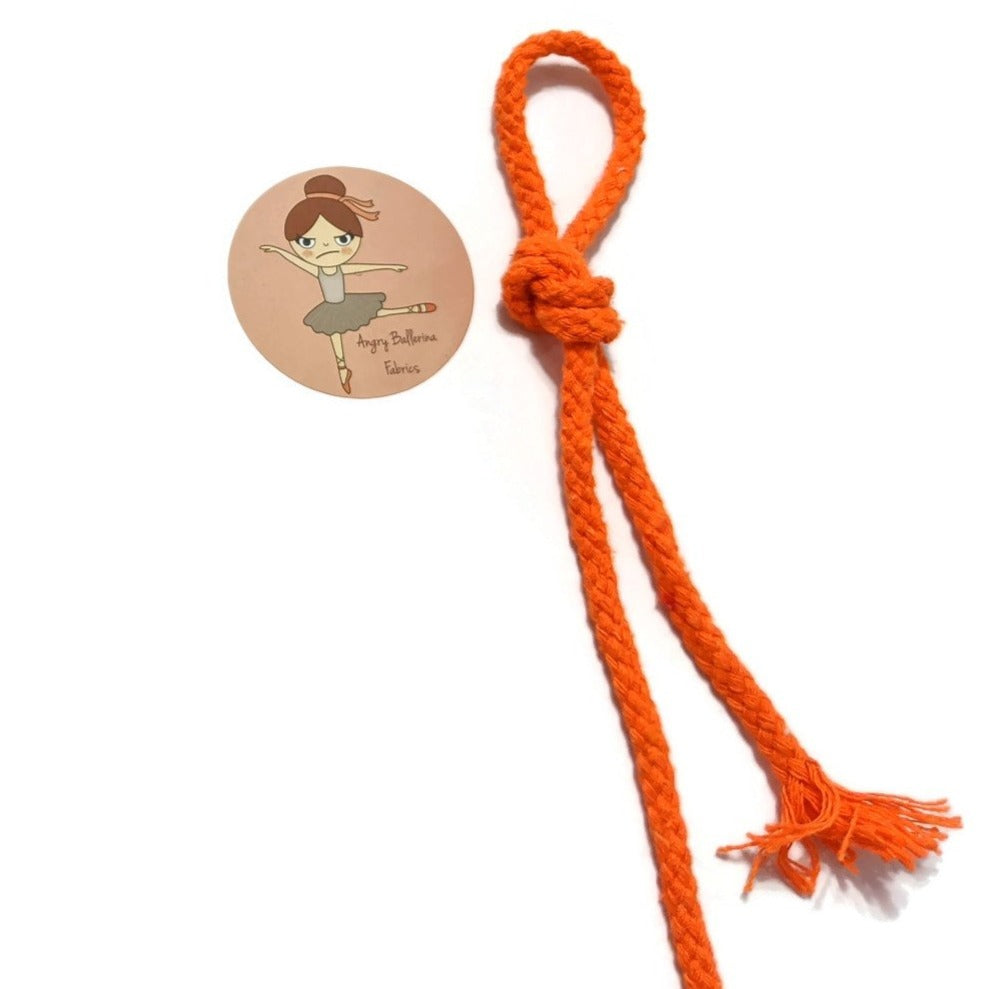 7mm Round Drawstring Cord- Orange