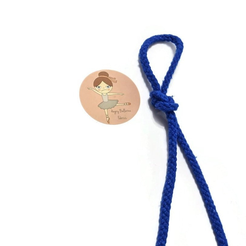 7mm Round Drawstring Cord - Blue