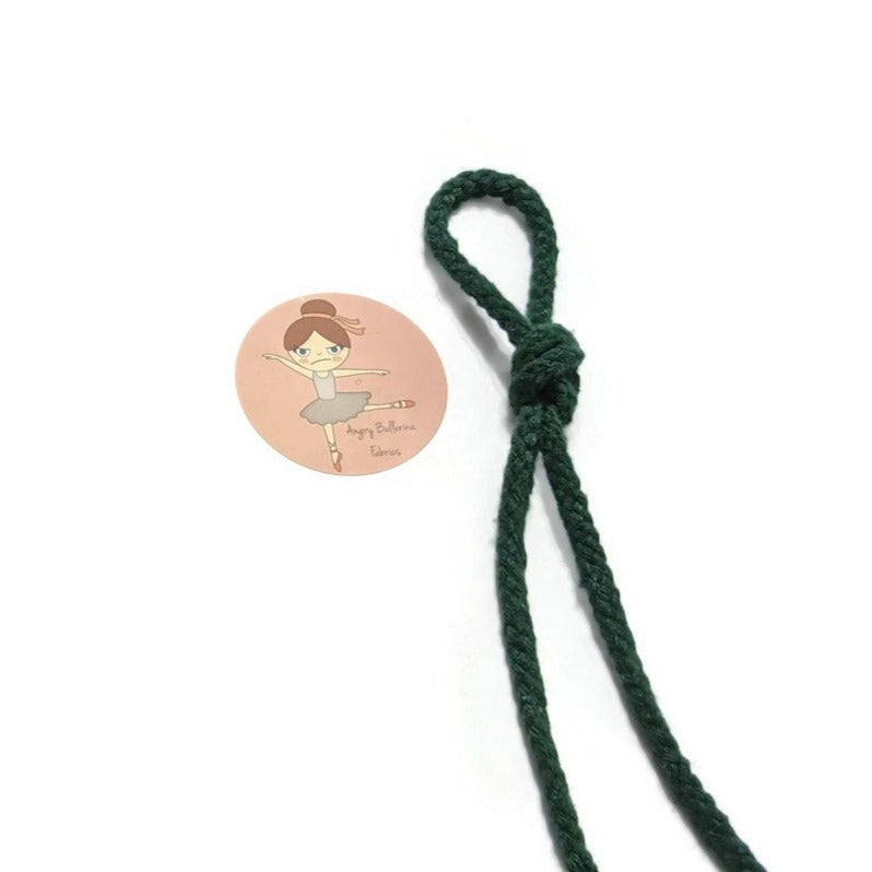7mm Round Drawstring Cord- Forest