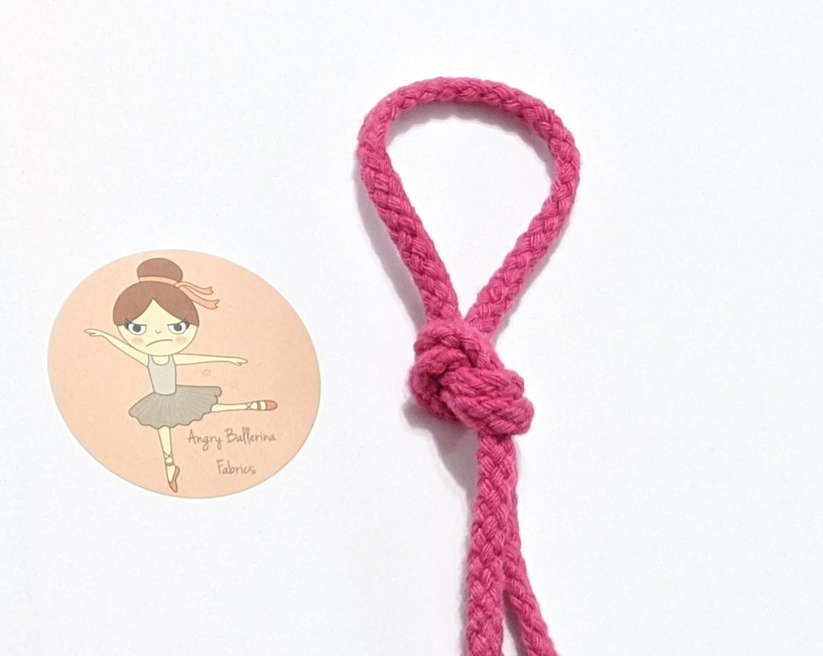 7mm Round Drawstring Cord - Bright Pink