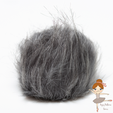 Gray pom-pom with snaps