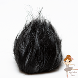 Black and white pom-pom with snaps
